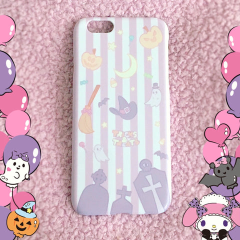 Tricks and Treats Phone Case by fawnbomb - Huawei - peachiieshop