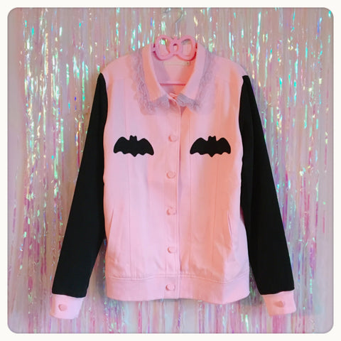 Lovely Sinner Pastel Pink Bat Jacket by fawnbomb (Limited PRE-ORDER)