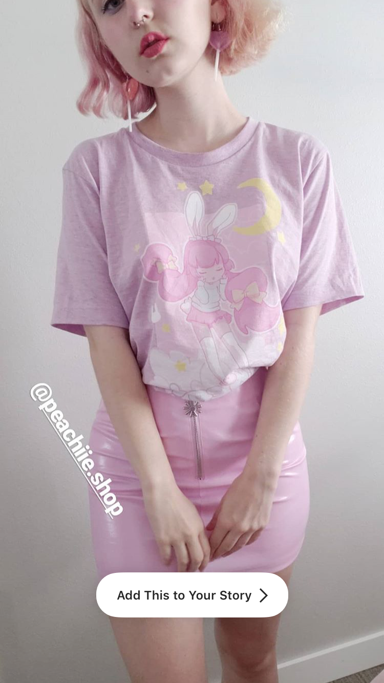 Sweet Dreams T-Shirt (Lavender) by fawnbomb - peachiieshop