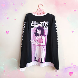 HEARTBREAK HOSPITAL Sweater (Black) by fawnbomb - peachiieshop