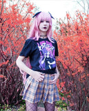 'WARUMONO' Tee by Fawnbomb // Anime Yandere Creepy Cute Yami Kawaii Harajuku Girl Shirt Top