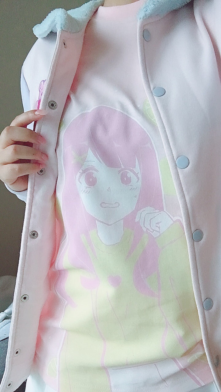 Lemonade Crush Tee by fawnbomb HARAJUKU pink fairy kei yume kawaii Shirt Original Art - peachiieshop