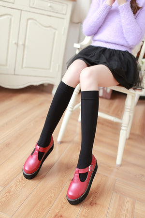 Simple Knee High Socks - 27 colours
