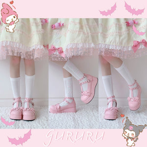 Baby Bat Pastel Goth Platform Shoes