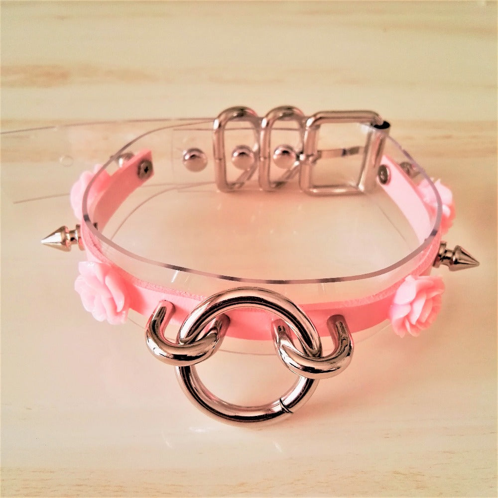 Matilda Rose O-Ring Adjustable Spiked Choker (6 colours) - peachiieshop