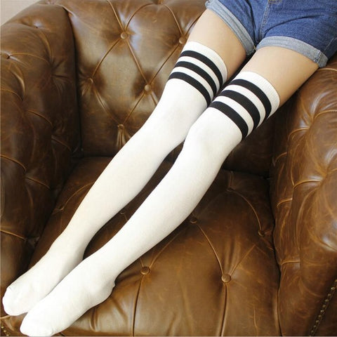 K-Pop Red Velvet Twice 7 colour Thigh High OTK Socks - peachiieshop