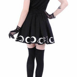 WITCH CRAFT SKIRT Punk Gothic Harajuku Pastel Goth Soft Grunge Tumblr High Waist Pleated Mini Skirt - peachiieshop