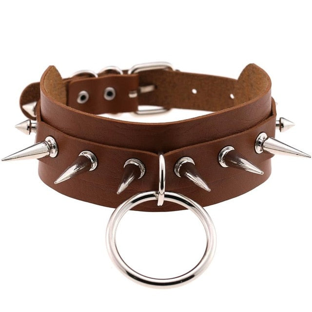 CERBERUS Cruelty Free Pleather Choker (15 colours) - peachiieshop