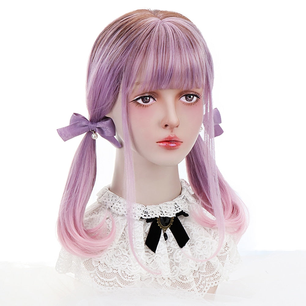 Smoky Lavender Ombre Long Bob Wig - peachiieshop