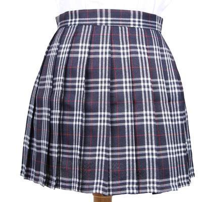 Plaid Japanese Uniform Pleated Skirts 12 colours - peachiieshop