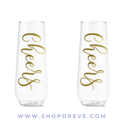 Cheers Stemless Champagne Flute Set - Drêve