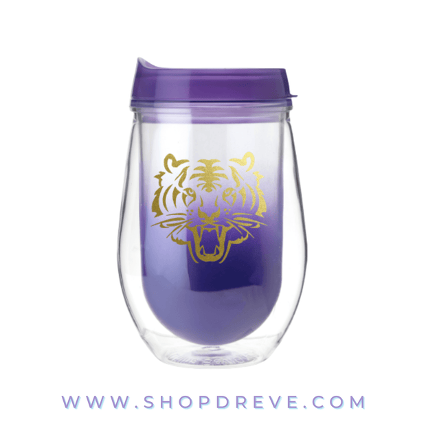 Roar Purple Ombre Wine Tumbler - Drêve