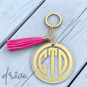 Personalized Three-Inch Acrylic Keychain with Gold Hardware - Drêve