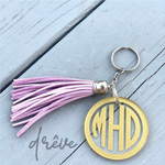 Personalized Two-Inch Acrylic Keychain with Silver Hardware - Drêve