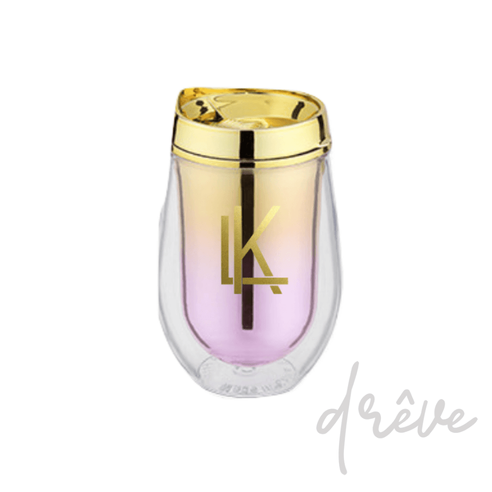 Pink Metallic Ombre Stemless Wine Tumbler
