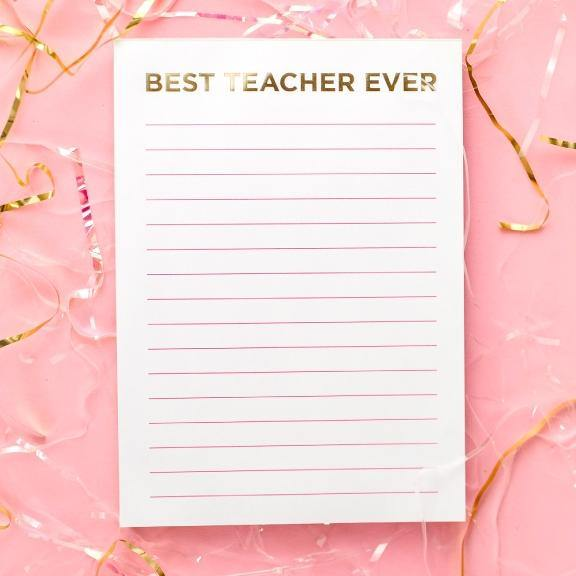 Best Teacher Ever Notepad - Drêve