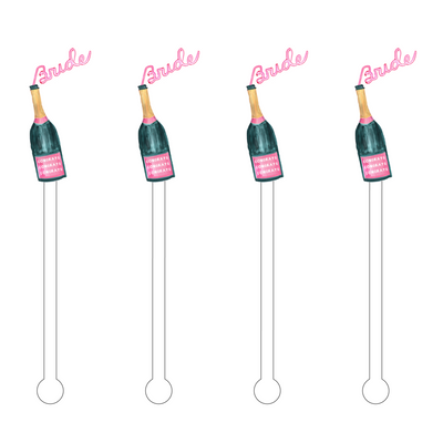 Bride & Bubbles Acrylic Stir Sticks - Drêve