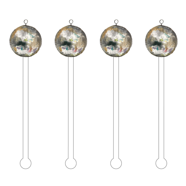 Disco Ball Acrylic Stir Sticks - Drêve