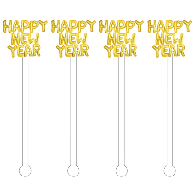 Happy New Year Acrylic Stir Sticks