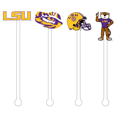 LSU Football Acrylic Stir Sticks