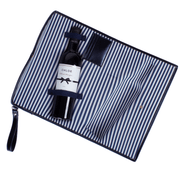 Large Wine Clutch in Navy - Drêve