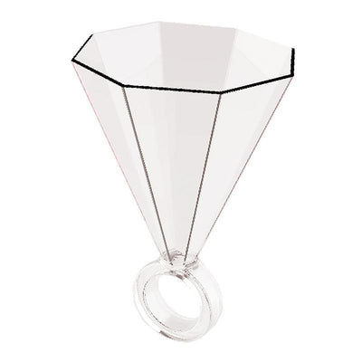 Clear Shot Glass Ring - Drêve