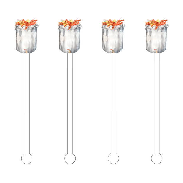 Crawfish Boil Acrylic Stir Sticks - Drêve