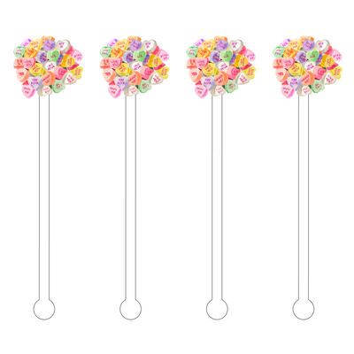 Conversation Heart Acrylic Stir Sticks