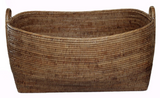 Large Rectangle Rattan Basket w Handles