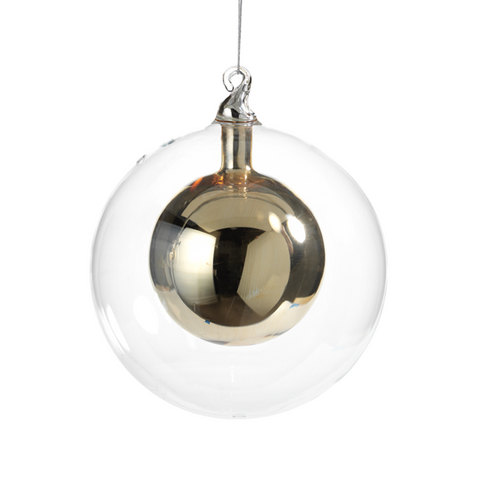 Double Glass Ball Ornament