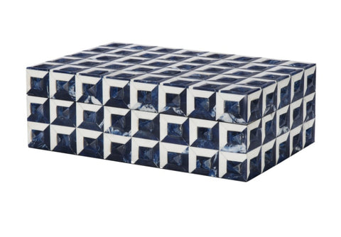 Navy + White Checkered Box