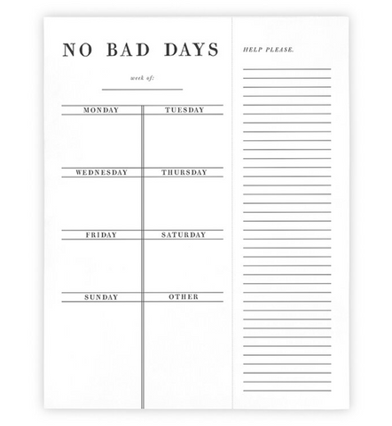 'No Bad Days' Planner