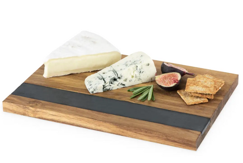Slate and Wood Cheese Board