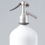 White Seltzer Bottle