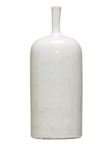 White Reactive Glaze Vase