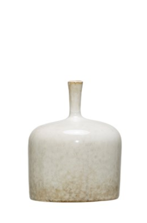 Small White Reactive Glaze Vase