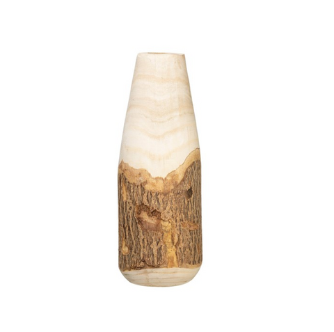 Paulowina Wood Vase