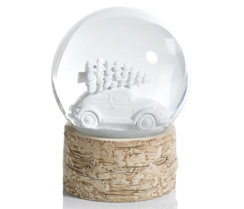 Snow Globe on Birch with Car