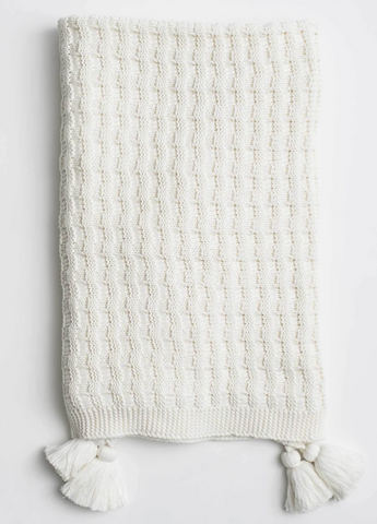 Abrams Knit Throw White