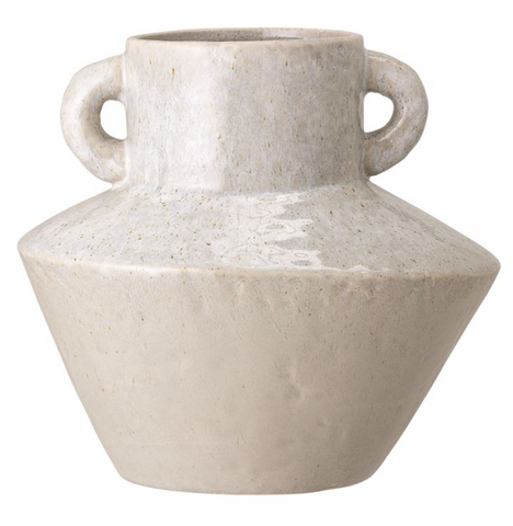 Stoneware Vase with Handles