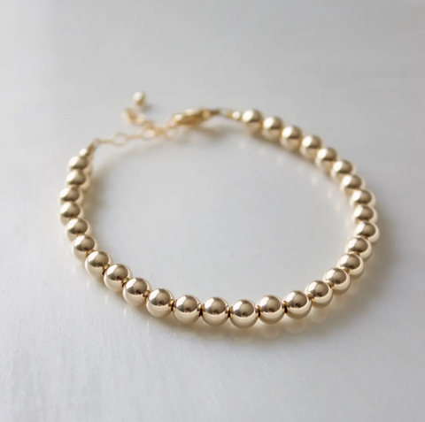 5mm Gold Filled Round Bracelet