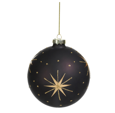 Black Star Ornament