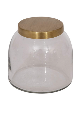 Jar with Gold Lid