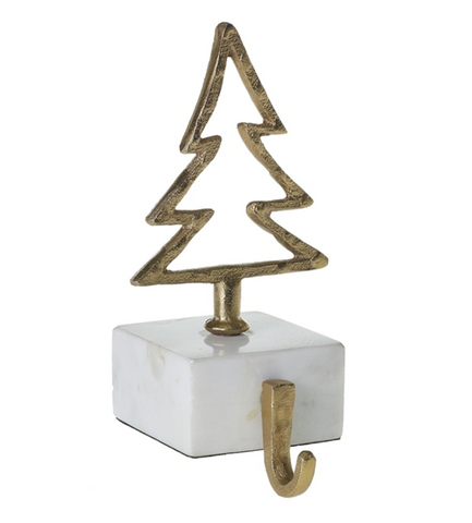 Marble Gold Tree Stocking Holder