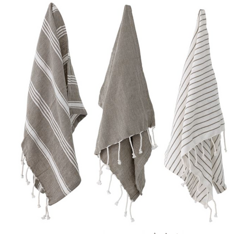 Cotton Striped Tea Towels