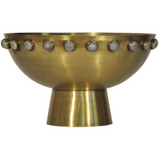 Brass Bowl with Stone Detail