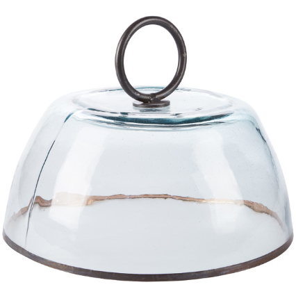 Glass Dome with Ring Handle