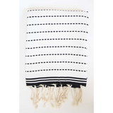 Black & White Turkish Bath Towel