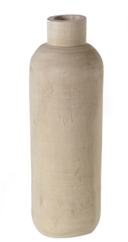 Tall Wood Budvase