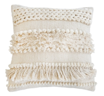Ivory Handwoven Pillow